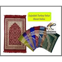 Sajadah Turkey / Sajadah Turki Velur Besar halus impor