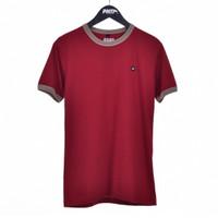 RING MRN / Men Short Sleeves Tshirt Maroon - Premium Nation Original