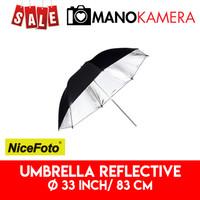 Payung Studio Silver Umbrella Reflective 33 inch 83 cm NiceFoto