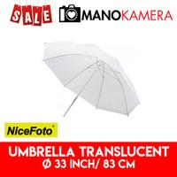 Payung Studio Putih Umbrella Translucent White 33 inch 83 cm NiceFoto