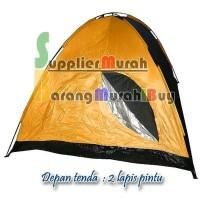Tenda Camping Dome Kapasitas 4 Orang Dengan Alas Tenda Lipat Super