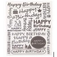 Happy Birthday Letters Pattern Embossing Folder