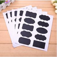 Chalkboard Labels 10 Diferent Shape - Label Hitam 10 Bentuk (1sheet)