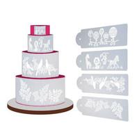 Cake Stencil - Four Different Pattern (4pcs)