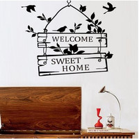"""Wall Decal - Stiker Dinding """"WELCOME-SWEET HOME"""""""