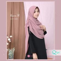 Khimar Haura 1A Zizara size M- Hijab Jilbab Pad Serut Ceruty Amunzen