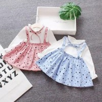 Dress anak/dress tutu anak/dress import anak - 6-12 Bulan, Biru