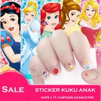 Hand & Nail Art / Sticker Kuku untuk Anak Lovely Cartoon Pattern Decor