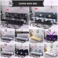 Cover Sofa / Sarung Sofa Bed kain elastis mudah dipasang