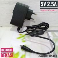 Adaptor 5V 2.5A +Switch ON OFF Micro USB for Raspberry Arduino Nodemcu