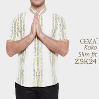 Baju Koko Pria Murah / Busana Muslim Modern Slim Fit OM46