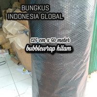 bubble wrap 50 meter x 125 cm Hitam,Merah,Biru