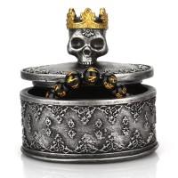 Crowned Skull Jewelry Organizer Desktop Storage Box Halloween Gift