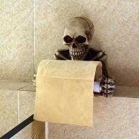 Gothic Skull Rolling Skeleton Tissue Toilet Paper Storage Holder