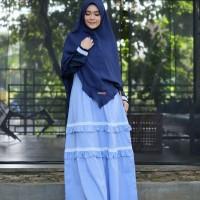 YASMEERA FATMA DRESS BLUE Gamis Only - Casual Katun Gladia Adem