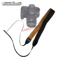 Neck strap leather cotton camera strap tali kamera DSLR mirrorless