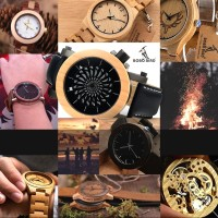 Classic Yet Modern Design Watch Jam Tangan Analog Pria Bobo Bird - 026