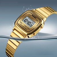 Bursa Jam Tangan Wanita Digital Skmei 1252 Gold Water Resistant 50m