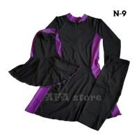 baju renang muslimah N-9 (ungu terang)