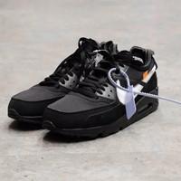 Off White x Nike Air Max 90 Triple Black