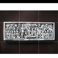 Souvenir magnet kulkas relief Borobudur oleh oleh negara Indonesia
