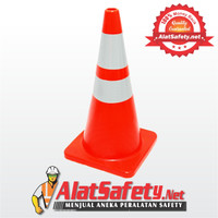 Traffic Cone Rubber 70CM / Safety Cone / Segitiga Pengaman Kerucut