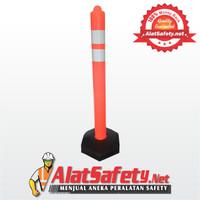 Traffic Cone Lurus 110cm / Safety Cone / Pengaman Jalan / Stick Cone