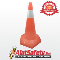 Traffic Cone PVC 75 cm / Safety Cone / Segitiga Pengaman Kerucut