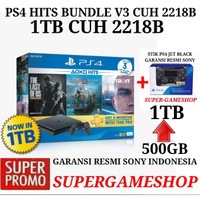 PS4 Slim 500GB CUH 2006A Hits Bundle 3 Games + Psn Plus 3bulan