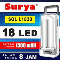 Lampu Emergency Recharge Portable SURYA SQL L1830