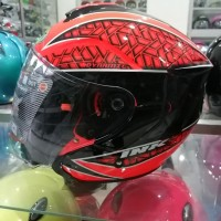 HELM INK DYNAMIC MOTIF SERI 2 RED FLUO BLACK NO HELM SHOEI NOLAN