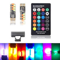 LAMPU LED MOBIL MOTOR T10 RGB JELLY SMD ISI 2PCS REMOTE RGB02