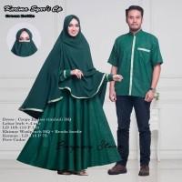 couple baju gamis muslim - Gamis Kemeja Khimar Karima Syari Couple Ori
