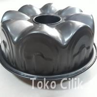 loyang/non stick/22 cm/anti lengket/bundt cake/cetakan/kue/puding/agar