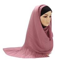 Pleated Hijab MS73 Impor Jilbab Plisket / Pashmina Cutton Scarf Syal