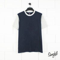 Ultra Brands X Hanes Stitching T-Shirt Navy