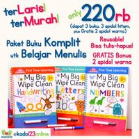 PROMO Paket Bundling 3 judul First Time Learning My Big Wipe Clean