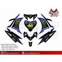 Stiker Motor new jupiter mx monster energy 2019 Grade B