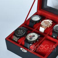 Kotak Jam Tangan Isi 6 Universal / Tempat Jam / Box Jam