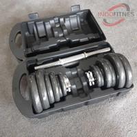 Dumbell Set Box 20kg | Barbel Koper 20 kg Dumbel