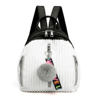 tas back pack putih ransel import korea 82666 batam murah kuliah cewek