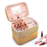 20207 Tas Gold Kotak Perhiasan Kotak Aksesoris Makeup kosmetik wanita