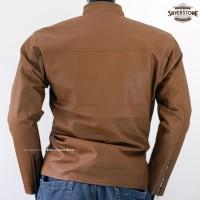 Jaket Kulit Pria By Silverstone RFLA - Cokelat Muda Untuk Mudik