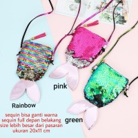BAJUKIDDIE SEQUIN MERMAID MINI SLING BAG . tas anak perempuan pesta hp