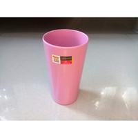 Gelas Rata Pink 14cm 480ml Melamine - Golden Dragon B0402