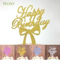 new 10Pcs Hiasan Kue Kreatif Tulisan Happy Birthday Gambar Pita Aksen