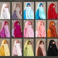 HOT SALE Jilbab Cadar Niqab Purdah Bertali Instan Malaysia Jilbabest