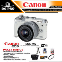 CANON EOS M6 KIT 15-45MM IS STM PAKET PROMO - ORIGINAL & MADE IN JAPAN