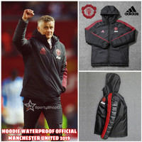 HOODIE WATERPROOF MANCHESTER UNITED 2019 BLACK-RED