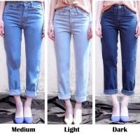 BELLZ PLAIN BOYFRIEND JEANS Wanita Non Stretch Jeans FL-1176-NA